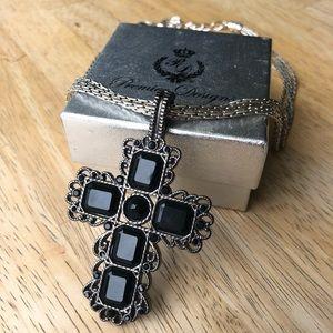 NIB Premier Designs Chain Necklace & Cross Pendant